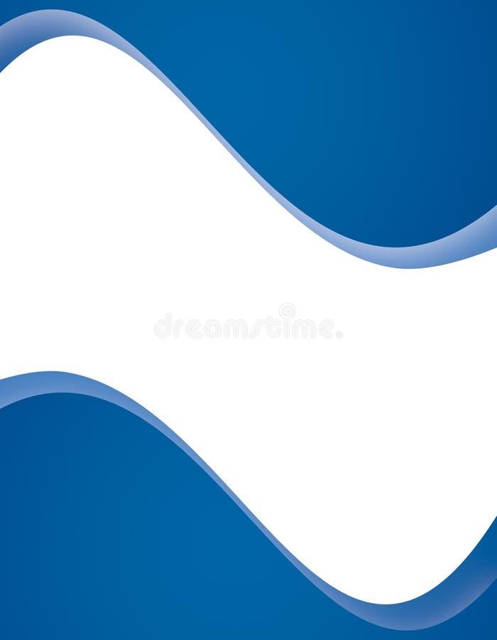 De moderne Blauwe Lay-out van de Pagina stock illustratie
