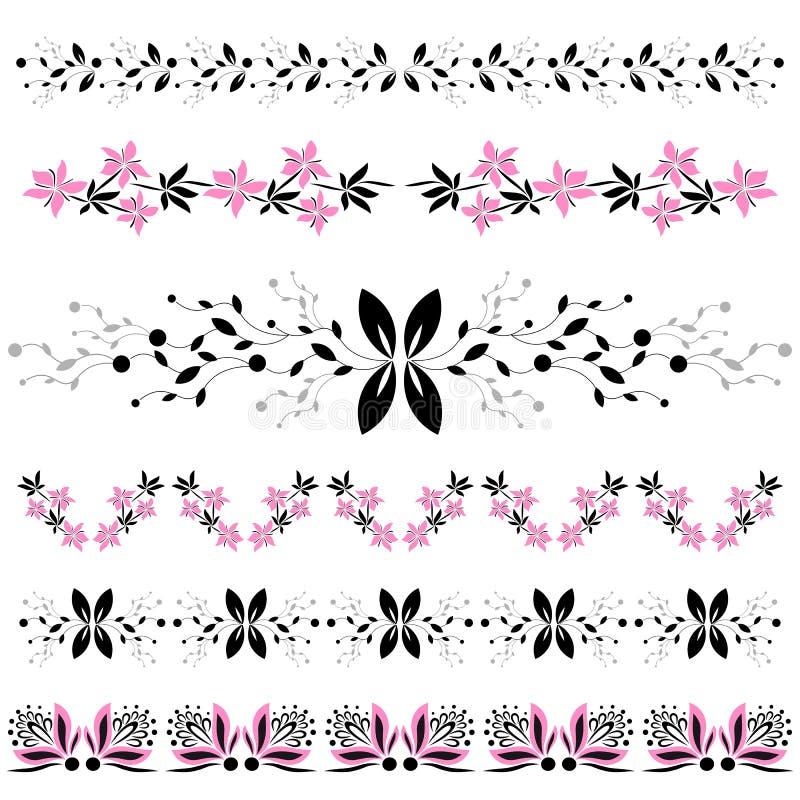 Moderne bloemenelementen stock foto's
