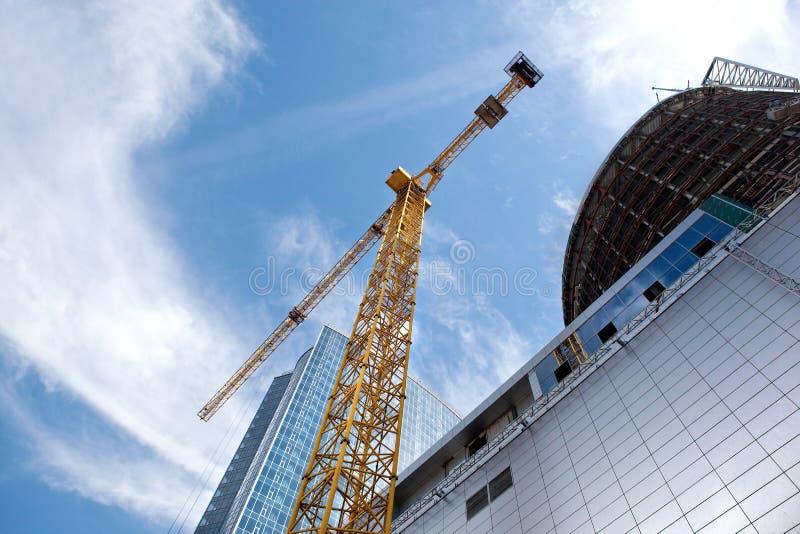De moderne bouw in aanbouw stock foto's