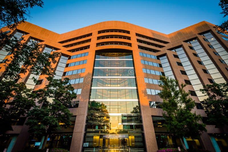 De moderne bouw in Crystal City, Arlington, Virginia stock fotografie
