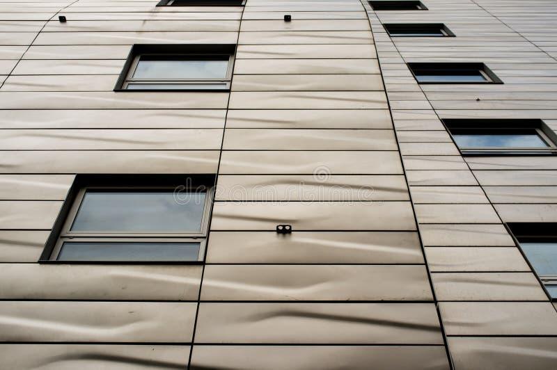 De moderne bouw met architecturale textuur stock fotografie