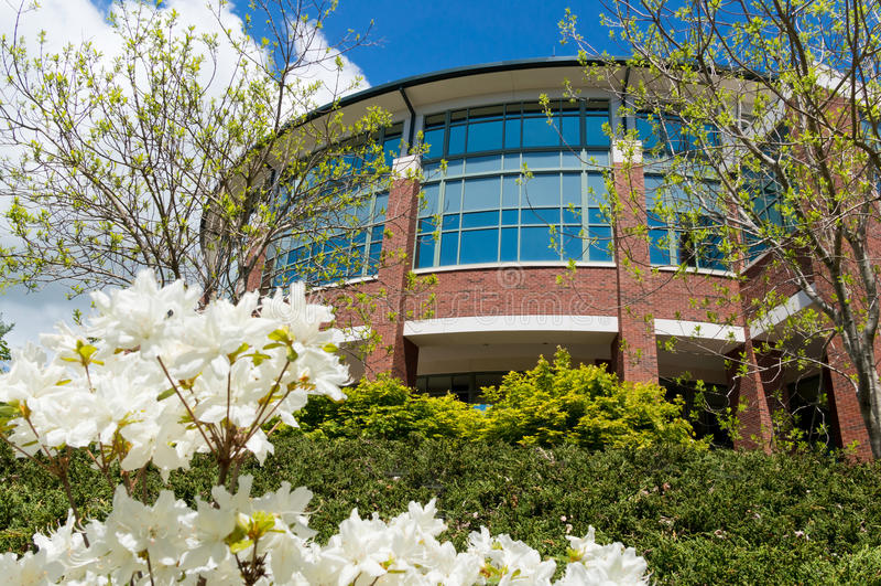 De moderne bouw op campus royalty-vrije stock foto's