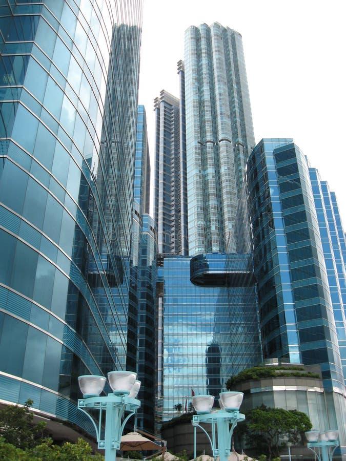De moderne bouw van Hang Hom, Hongkong stock foto