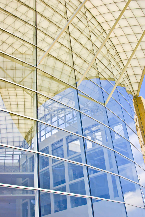 De moderne Bouw van het Glas stock afbeelding
