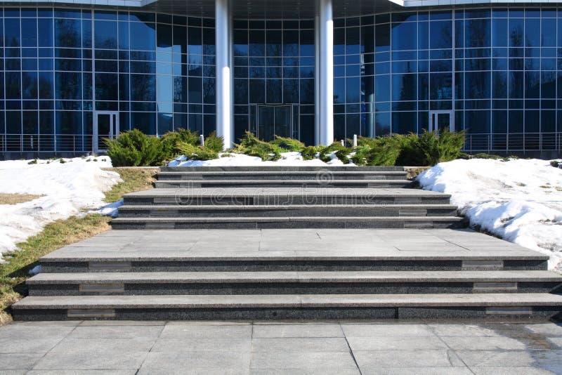 De moderne bouw van het overheidsbureau royalty-vrije stock afbeeldingen