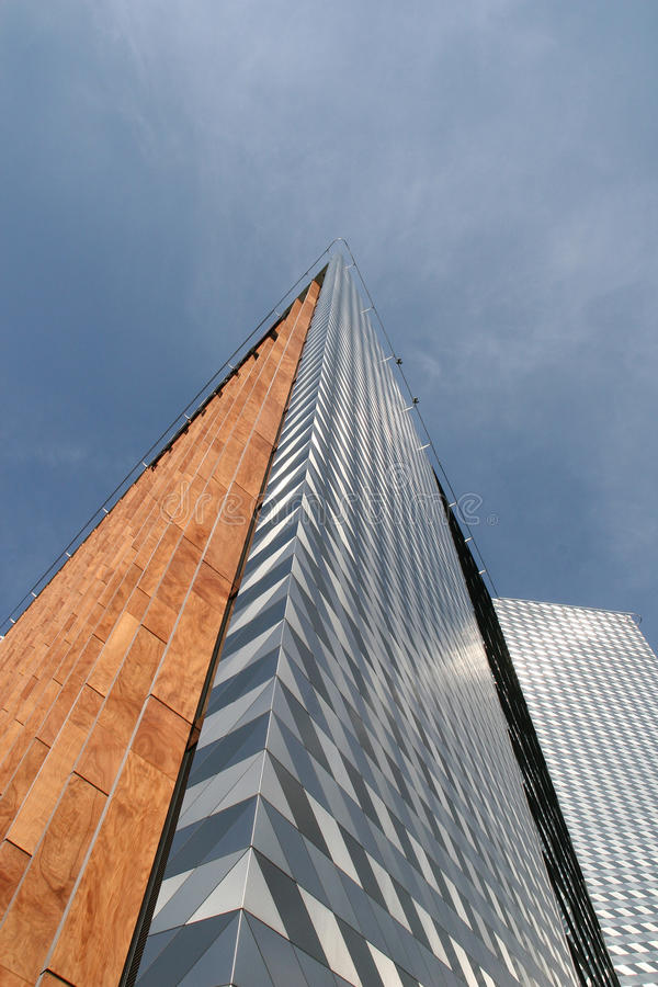 De moderne bouw in Vilnius stock afbeeldingen