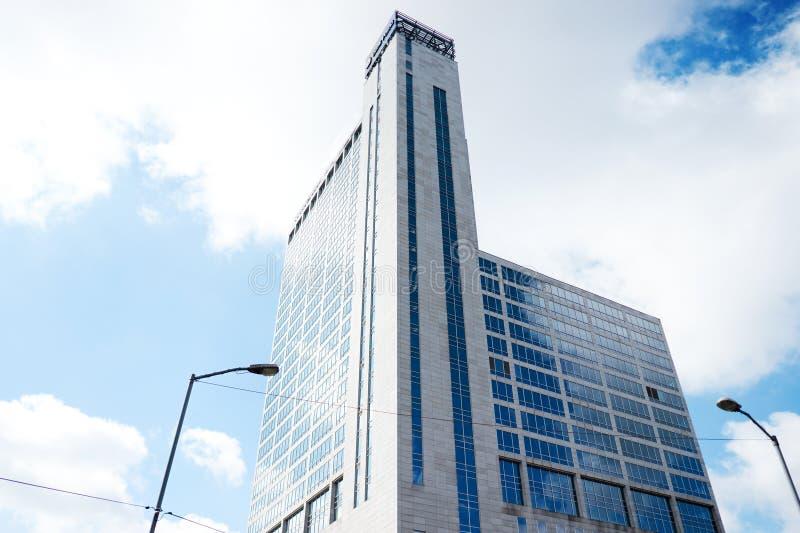 De moderne bureau collectieve bouw in Katowice, Polen stock afbeelding