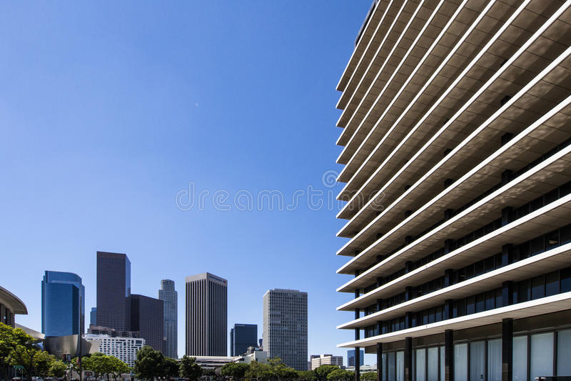 De moderne bureaubouw in Los Angeles stock fotografie