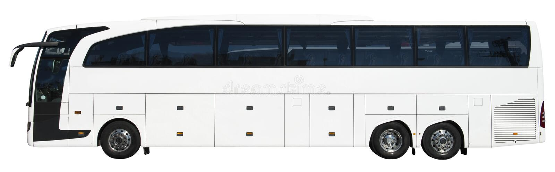 De moderne Bus van de Reis van de Bus van de Motor van de Luxe, Geïsoleerd. Wit royalty-vrije stock foto