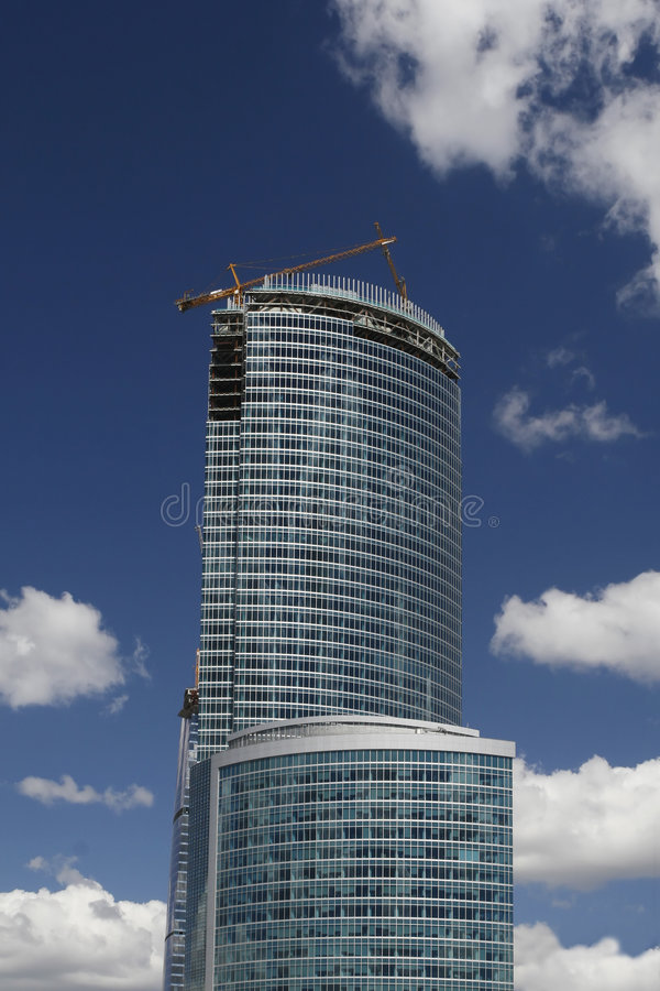 De moderne busines bouw stock foto