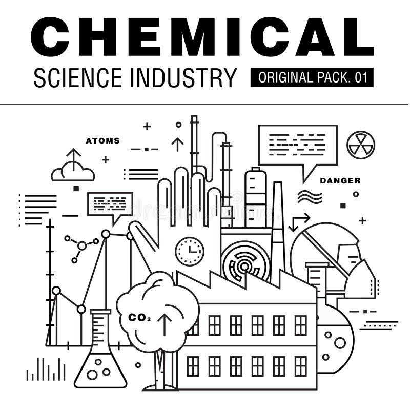 De moderne chemische wetenschapsindustrie royalty-vrije stock afbeeldingen
