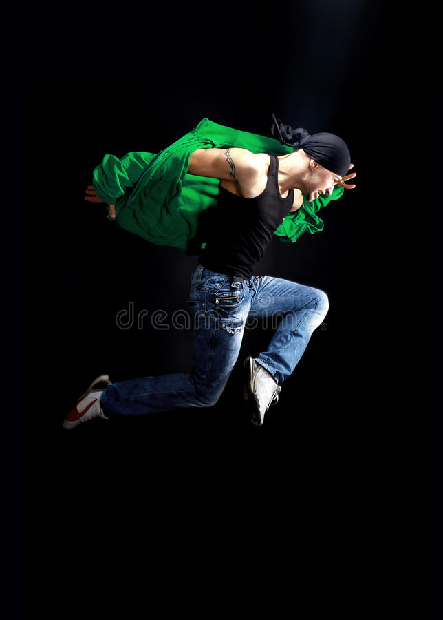 De moderne danser stelt stock afbeeldingen