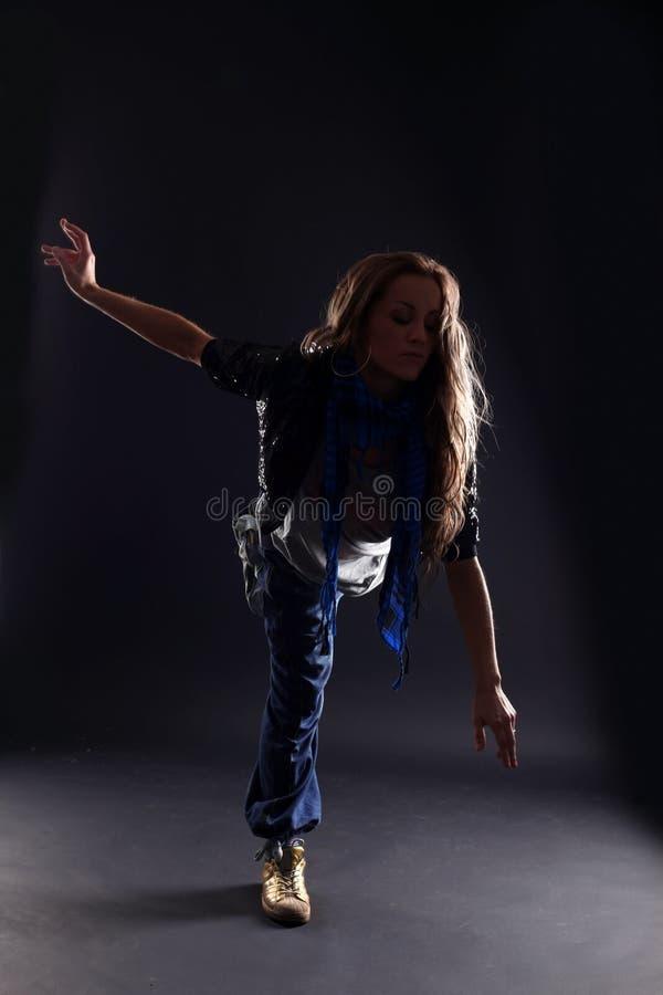 De moderne danser van de vrouw stock fotografie
