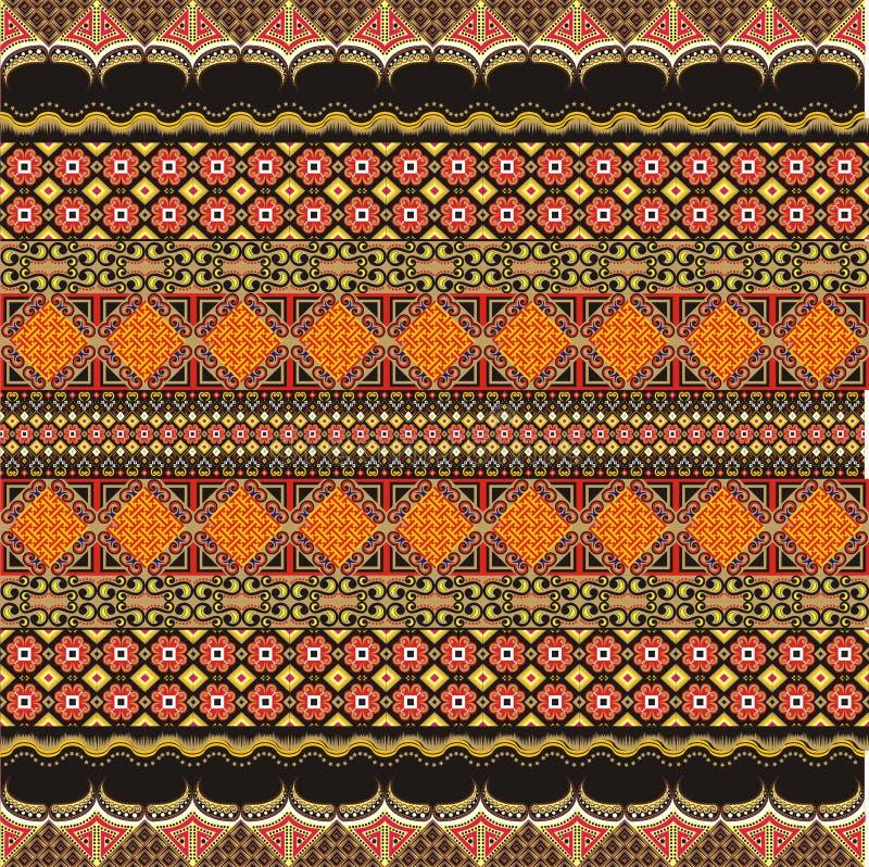 De moderne decoratie van het batikmotief stock illustratie