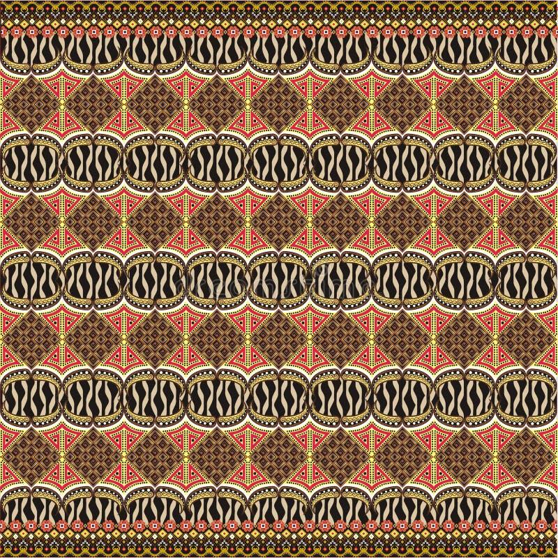 De moderne decoratie van het batikmotief vector illustratie