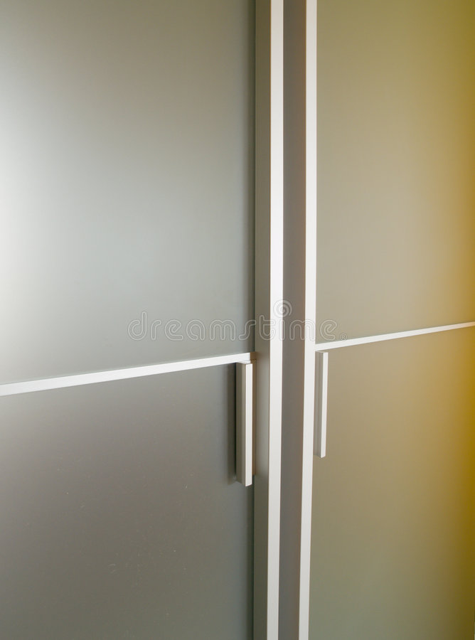 De moderne deur van het glas royalty-vrije stock afbeeldingen