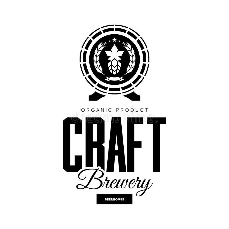 De moderne drank van het ambachtbier isoleerde vectorembleemteken voor brouwerij, bar, brouwerij of bar vector illustratie