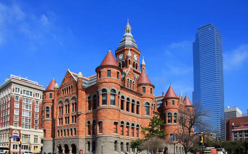 De moderne en historische bouw in Dallas royalty-vrije stock foto