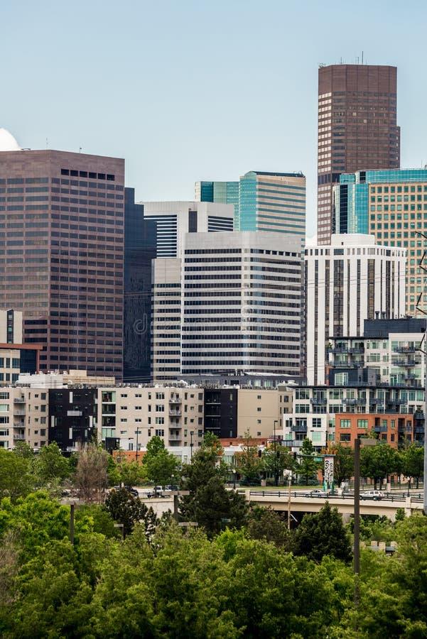 De moderne gebouwen van het stadsbureau in Denver Colorado royalty-vrije stock foto