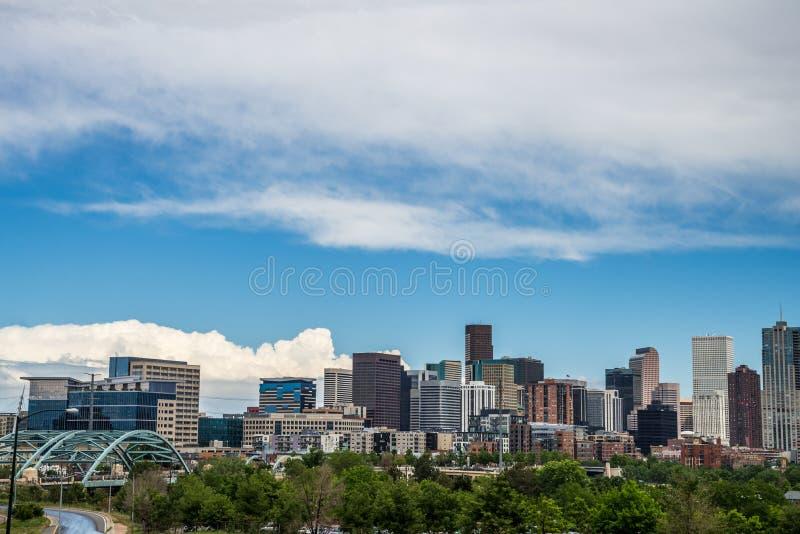De moderne gebouwen van het stadsbureau in Denver Colorado stock foto's