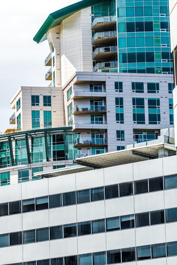 De moderne gebouwen van het stadsbureau in Denver Colorado stock afbeeldingen