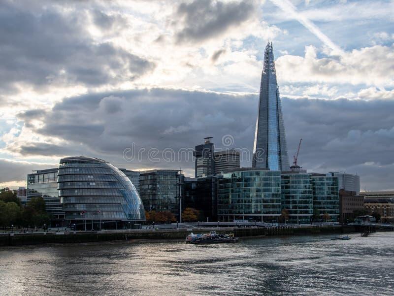 De Moderne Gebouwen van Londen royalty-vrije stock afbeelding