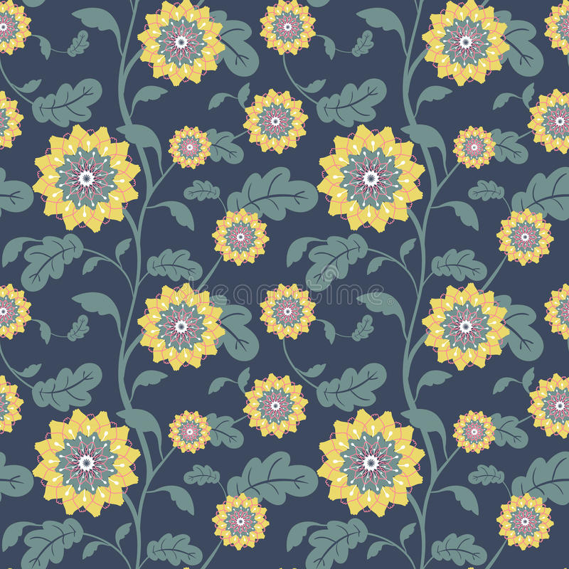 De moderne gele zon bloeit naadloze achtergrond vector illustratie