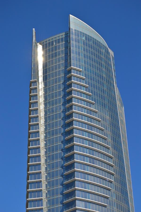 De moderne glasbouw in het stadscentrum stock foto