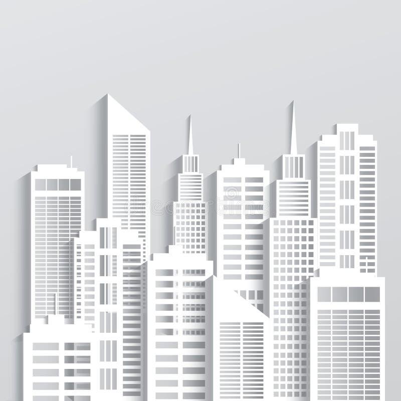 De moderne Horizon van de Stad vector illustratie