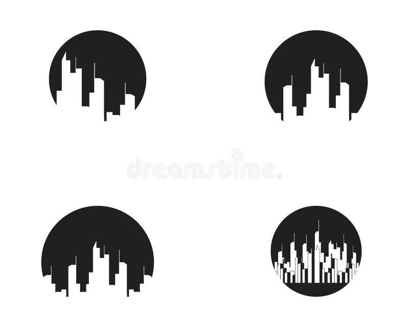 De moderne Horizon van de Stad Vectoreps 10 Vectorillustratie in vlak ontwerp vector illustratie