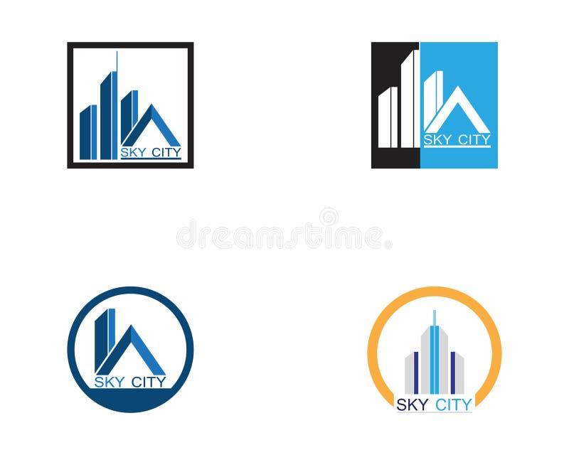 De moderne Horizon van de Stad Vectoreps 10 Vectorillustratie in vlak ontwerp stock illustratie