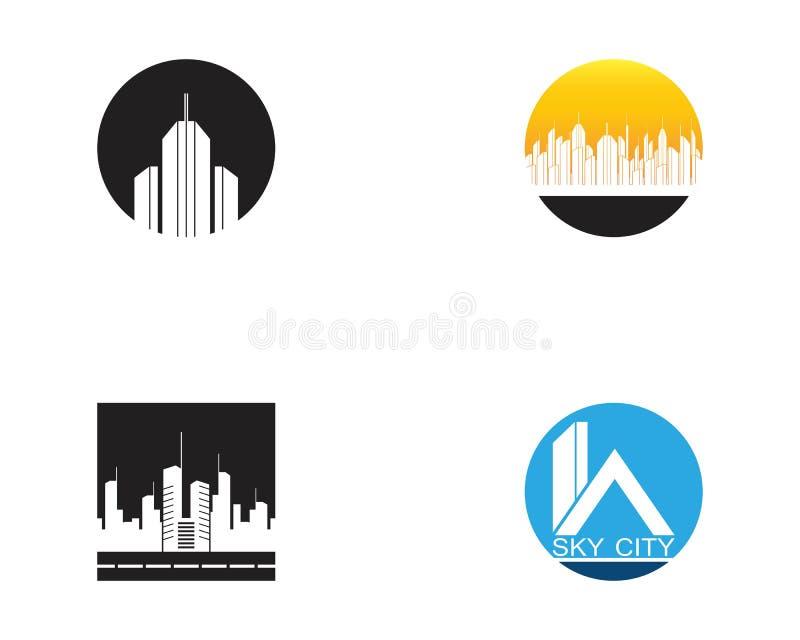 De moderne Horizon van de Stad Vectoreps 10 Vectorillustratie in vlak ontwerp royalty-vrije illustratie