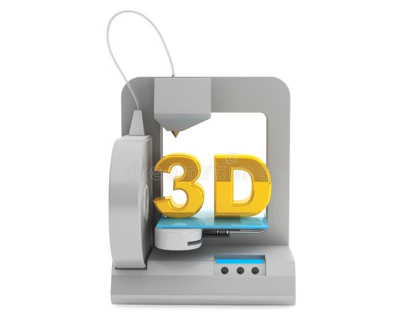 De moderne Huis 3d printer maakt voorwerp royalty-vrije illustratie