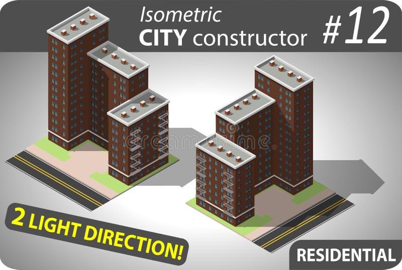 De moderne isometrische bouw stock illustratie