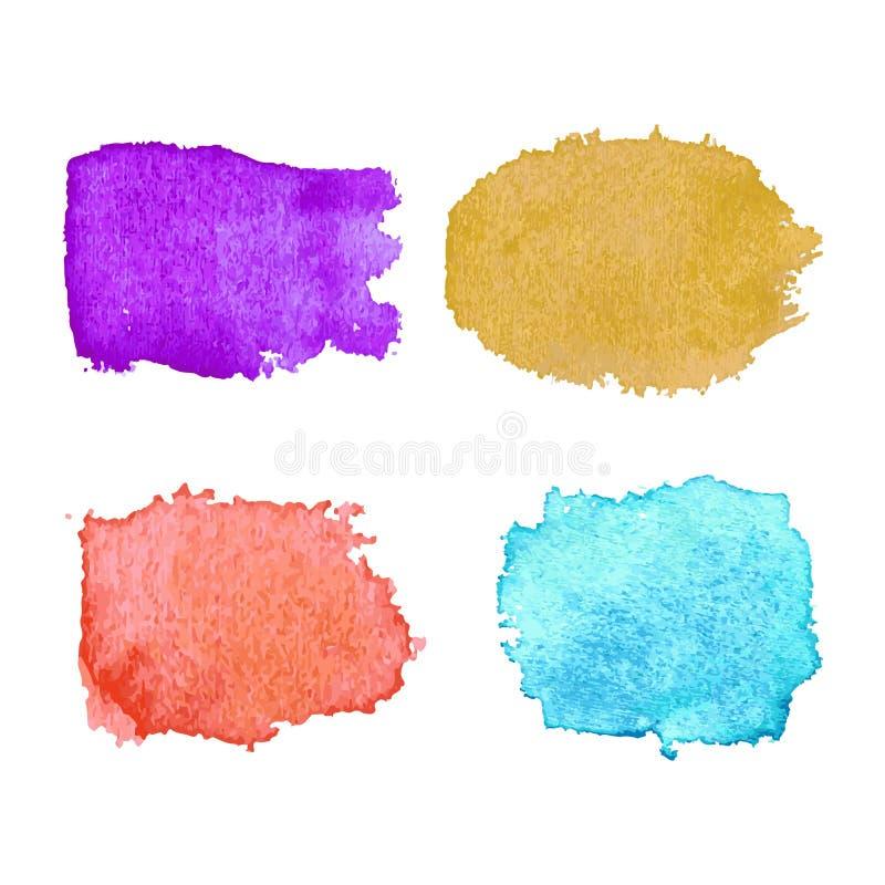 De moderne kleurrijke achtergrond van waterverftexturen stock illustratie