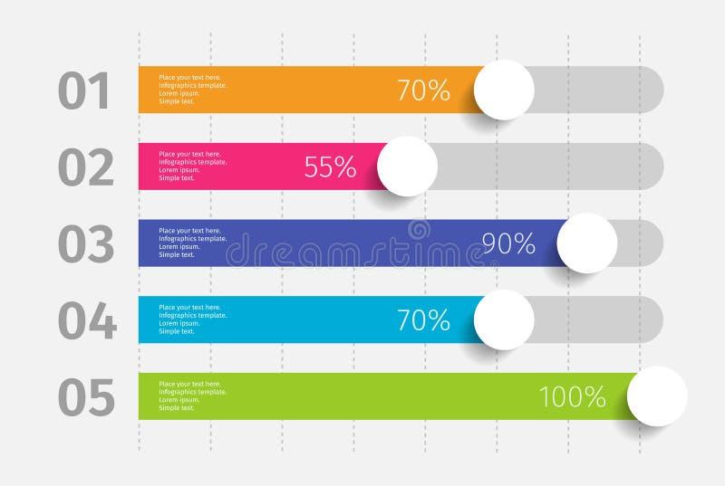 De moderne kleurrijke 3d grafiek van de schakelaarstijl, grafiek Malplaatje voor diagram, presentatie en grafiek De elementen van vector illustratie