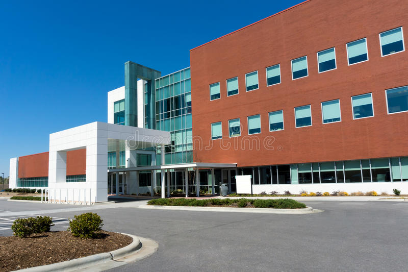 De moderne medisch centrumbouw stock foto