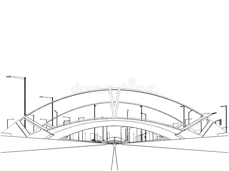 De moderne Mening van de Stad van Vector 01 van het Kanaal stock illustratie