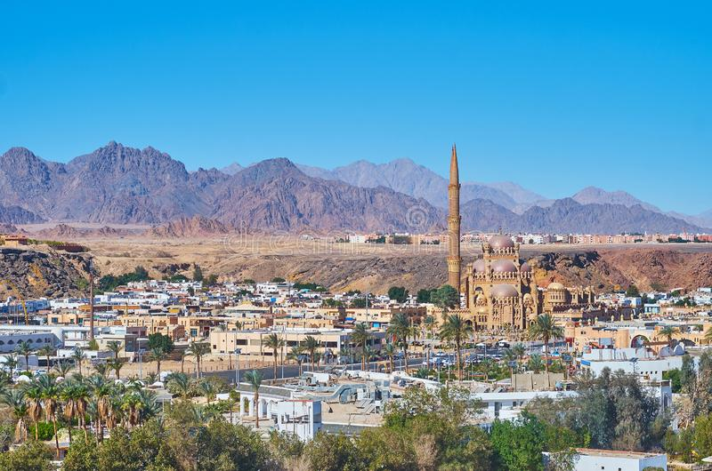 De moderne moskee in Sharm el Sheikh, Sinai, Egypte royalty-vrije stock foto's