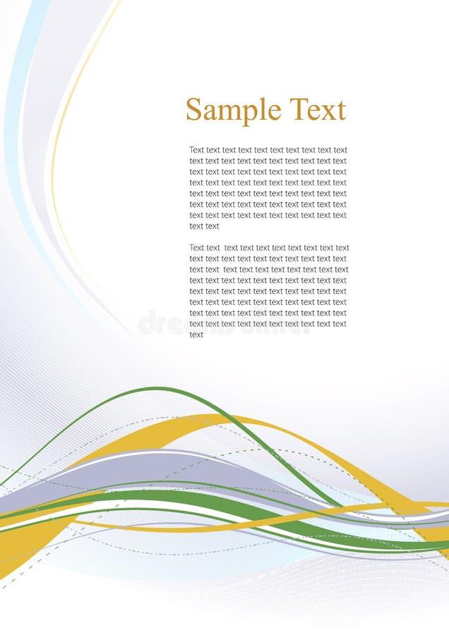 De moderne pamfletten van het malplaatje stock illustratie