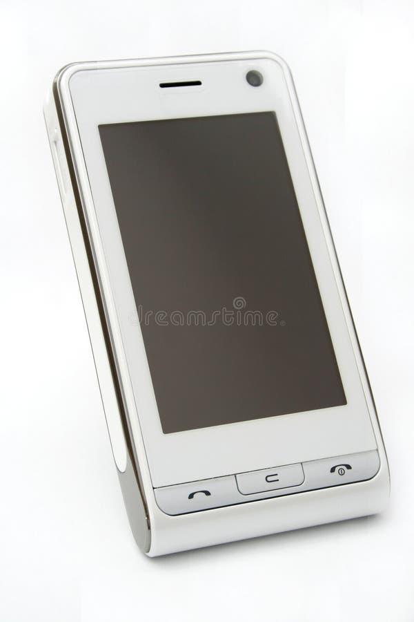 De moderne PDA mobiele telefoon van het aanrakingsscherm stock afbeelding