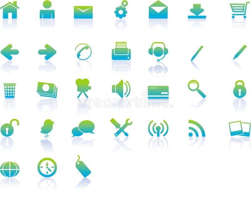 De moderne Pictogrammen van het Web vector illustratie