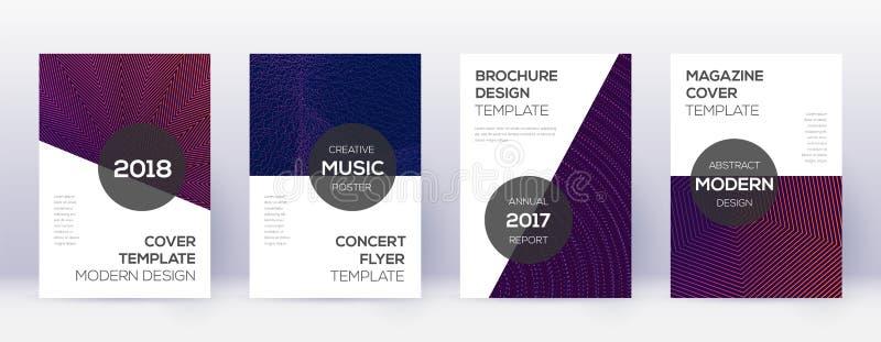 De moderne reeks van de brochureontwerpsjabloon Violette abstra royalty-vrije illustratie