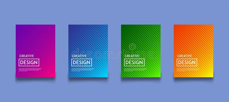 De moderne reeks van het van de achtergrond gradiëntkleur ontwerpmalplaatje royalty-vrije illustratie