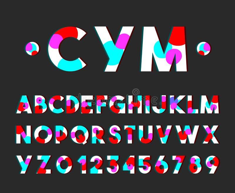 De moderne Reeks van het de Typografiealfabet van de Stijldoopvont Vector vector illustratie