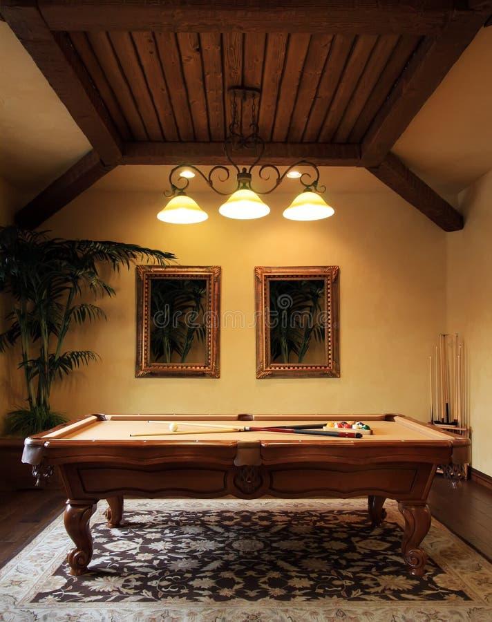 De moderne ruimte van het poolspel