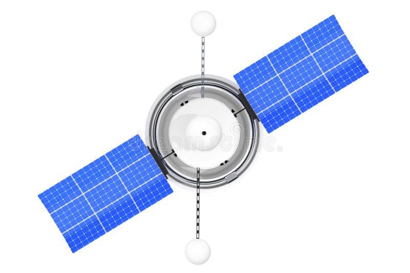 De moderne Satelliet van de Wereld Globale Navigatie het 3d teruggeven vector illustratie