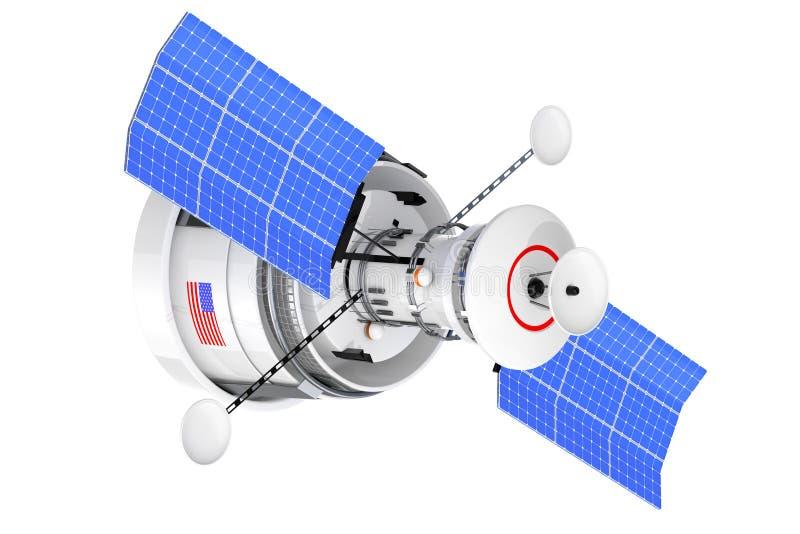 De moderne Satelliet van de Wereld Globale Navigatie het 3d teruggeven royalty-vrije illustratie