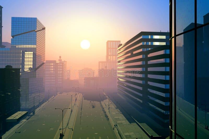 De moderne stad royalty-vrije stock afbeeldingen