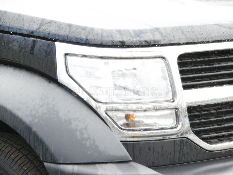 De moderne stijlauto steekt close-upeffect aan royalty-vrije stock foto's